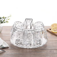 立体浮雕复古玻璃杯套装厚重果汁杯牛奶杯家用水杯饮料杯茶杯