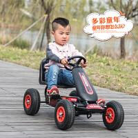 W 儿童卡丁车男女宝宝四轮脚踏运动健身车小孩脚蹬可做玩具自行赛车O 中国红 脚踏四轮车:环保塑料轮 其它