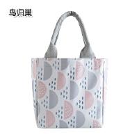 加厚手提保温袋创意束口防水饭盒袋子牛津布学生午餐带饭包便当包