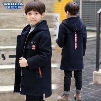 2019新款韩版妮子洋气夹棉中大童呢子外套潮秋冬季男童加厚毛呢大衣