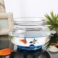 绿萝花卉水培花盆透明玻璃花瓶大号碗莲盆水仙盆水养植物器皿鱼缸 中等