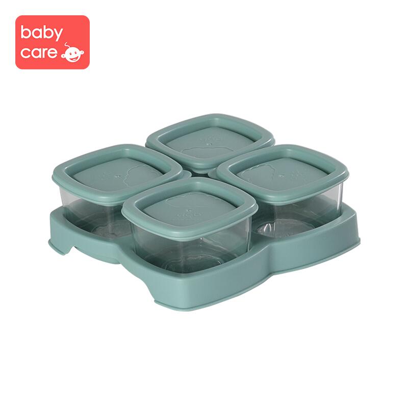 【满129减20】babycare 辅食盒 玻璃 婴儿零食保鲜盒宝宝便携存储盒带盖子