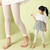 儿童连裤袜薄款丝袜女童春秋白色连体袜宝宝外穿九分打底裤袜