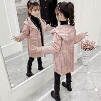 儿童加厚公主连帽大衣2019新款秋冬装韩版中大童洋气童装女童外套