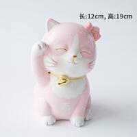 招财猫摆件发财猫陶瓷日本存钱储蓄罐店铺开业创意礼品