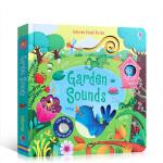 Usborne 原版英文 Garden Sounds 斯伯恩图书花园里边谁在唱歌 奇妙触摸发声书聆听花园里的各种声音