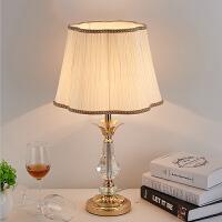 温馨床头灯卧室台灯可调光现代简约奢华欧式创意结婚*水晶台灯