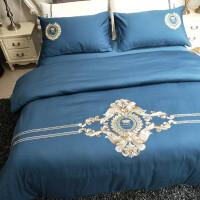欧式床单四件套全棉全棉1.5/1.8m米床上用品被套罩2.0米简约被套定制