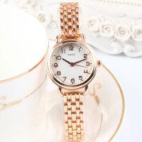 简约时尚女士钢带手表女潮流百搭文艺森系小清新学生手链手表