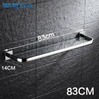 不锈钢浴室玻璃置物架壁挂卫生间化妆品架毛巾架单层镜前架免打孔