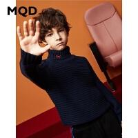 MQD童装男童2019冬季新款高领加厚毛衣保暖儿童毛衣洋气针织衫韩