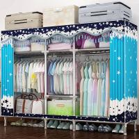 简易布衣柜家用出租房简约现代经济型组装双人卧室省空间衣橱柜子 2门