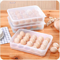 可叠加20格鸡蛋收纳盒厨房冰箱有盖鸡蛋保鲜盒蛋托鸡蛋格