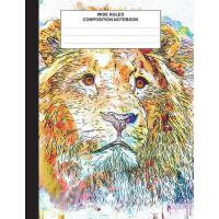 【预订】Wide Ruled Composition Notebook: Lion Water Color Stude