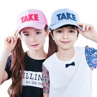 儿童帽子夏天鸭舌帽宝宝防晒遮阳帽网眼棒球帽男女童太阳帽薄款