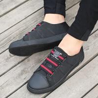 学生板鞋男夏季韩版潮流休闲鞋帆布鞋低帮黑色懒人鞋透气男鞋子潮