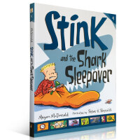 顺丰发货 Stink系列第9部 Stink and the Shark Sleepover Judy Moody系列同