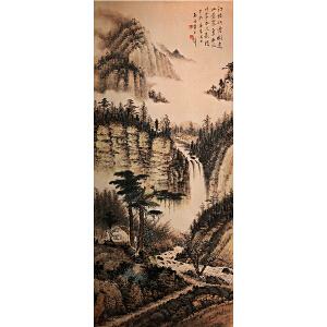 黄君璧《山水立轴》纸本立轴
