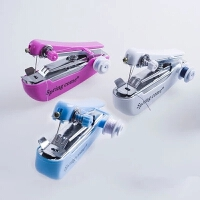 【加强版】小型手动缝纫机家用手持便携迷你缝纫机微型缝衣吃厚