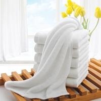 酒店宾馆棉白色毛巾吸水美容院KTV方巾洗脸面巾