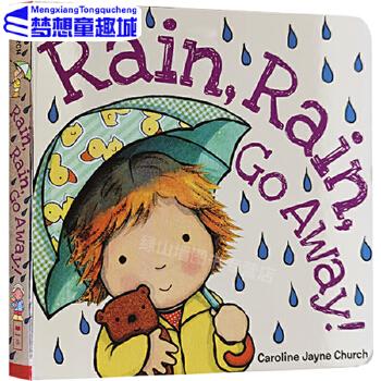 Rain, Rain,Go Away! 雨,雨,走开!英文原版 绘本纸板书 名家 Caroline Jayne Church 卡洛琳杰恩