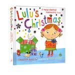 Lulu's Christmas 露露的圣诞节 英文原版绘本0 3岁 精装触摸翻翻操作书 Lulus系列 幼儿启蒙认知