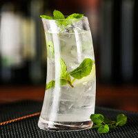 风帆杯玻璃杯子月牙饮料杯酒杯帆形杯鸡尾酒杯帆船长饮异型果汁杯