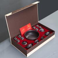 【优选】紫砂茶具套装家用功夫茶杯茶壶盖碗套装景德镇陶瓷泡茶茶具办公室 礼盒装