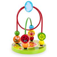 婴儿童大串珠绕珠开发益智力玩具0-1-2-3周岁宝宝6一9个月男女孩