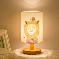 【品牌特惠】现代简约欧式美式卧室卡通遥控LED节能小夜灯实木抖音床头台灯