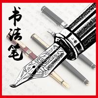 pimio 毕加索美工笔钢笔弯头902绅士纯黑金夹手绘用美工书法钢笔