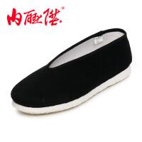 内联升 女鞋布鞋手工加密一字针千层底礼小元女鞋 老北京布鞋 8603A