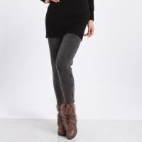 浪莎女士650G双层保暖直筒仿牛仔打底裤秋冬保暖女裤GB8072-3