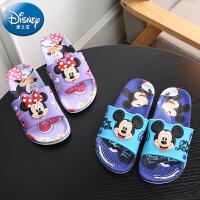 618提前购+2019新款迪士尼儿童凉拖鞋卡通居家防滑软底男童女童宝宝拖鞋夏季