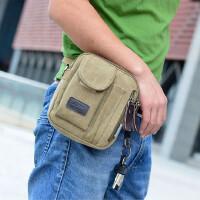 腰包男女帆布包单肩斜挎包休闲包多功能多袋实用小包