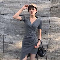 初恋复古港味心机设计感小清新冷淡风少女连衣裙子夏