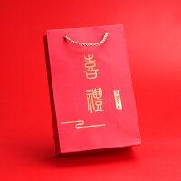 婚庆用品创意回礼袋结婚盒子手提袋喜糖盒子婚礼伴手礼中式礼品盒 喜礼 (29.5*22.5*9)【大号】10个装