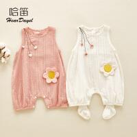 0-12个月女宝宝夏装幼儿薄款外出连体衣婴儿衣服