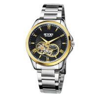 2017年新款 EYKI艾奇 全自动机械表 钢带手表 罗马刻度 男表 8628 黑盘金针