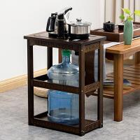 【优选新品】移动小茶桌边几柜实木客厅泡茶水架茶台电磁炉烧水壶一体置物架子