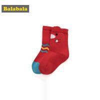 巴拉巴拉儿童袜子婴童中筒袜保暖春季新款男童棉袜女婴卡通两双装