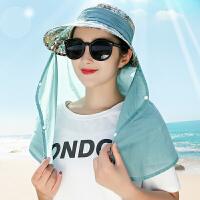 遮脸遮阳帽子女士可折叠夏天防晒骑电瓶车防紫外线太阳帽农活帽子