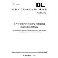 DL/T 874―2017 电力行业锅炉压力容器安全监督管理工程师培训考核规程(代替DL/T 874―2004)