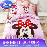 儿童四件套纯棉女孩粉色公主全棉宿舍床上用品卡通被套床单三件套定制