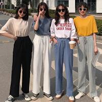 三木子快时尚女装~韩版宽松高腰阔腿裤女