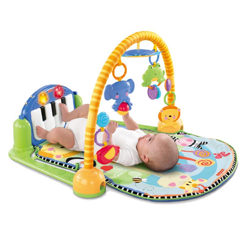[当当自营]Fisher Price 费雪 欢乐成长之脚踏钢琴健身器 婴儿玩具 W2621【当当自营】适合0-3岁婴幼儿 健身系列 琴琴健身器