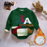 男童毛衣套头秋冬款新款韩版针织衫儿童加厚打底衫宝宝童装潮
