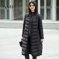 【满200减100 上不封顶】AMII[极简主义]冬装新款立领女加厚大码白鸭绒羽绒服11671866