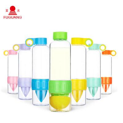 大容量塑料太空杯创意榨汁杯男女学生便携户外水杯果汁杯抖音 颜色随机