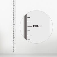 身高测量尺 测量身高墙贴可移除宝宝儿童房量尺自粘身高贴3d水晶立体精准B